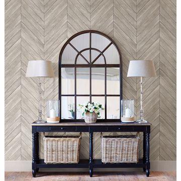 Picture of Parisian Light Grey Parquet Wallpaper