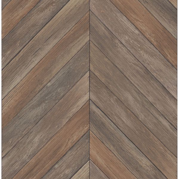 Picture of Parisian Chocolate Parquet Wallpaper