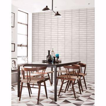 Picture of Midcentury White Modern Bricks Wallpaper