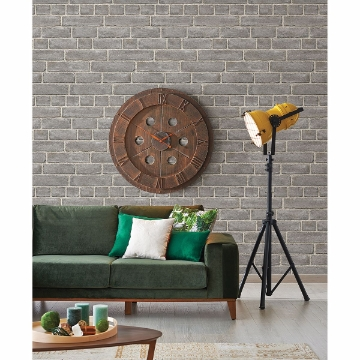 Picture of Façade Grey Brick Wallpaper