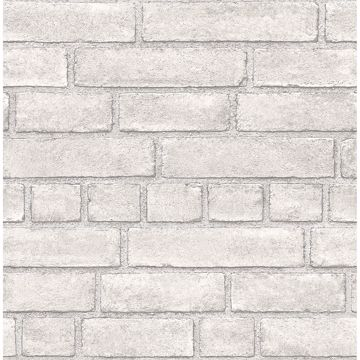 Picture of Façade Off-White Brick Wallpaper