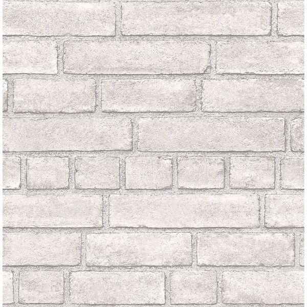 Picture of Façade Off-White Brick Wallpaper