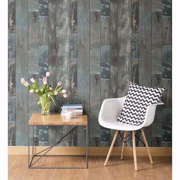 Picture of Deena Grey Weathered Wood Wallpaper