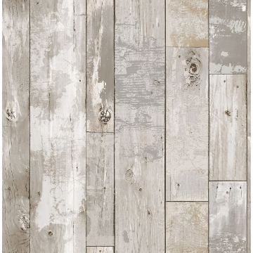 Picture of Deena Light Grey Weathered Wood Wallpaper