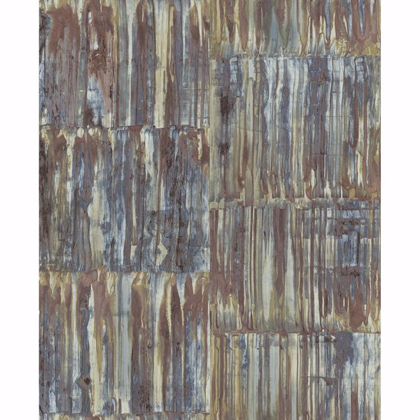 Picture of Chavez Multicolor Faux Metal Panels Wallpaper