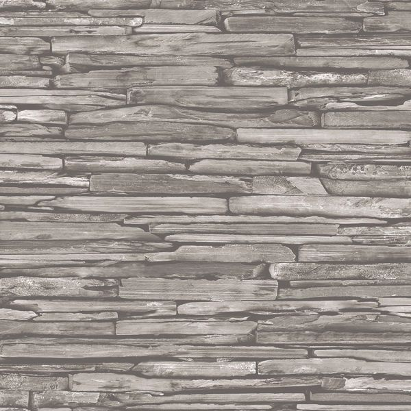 Picture of McGuire Taupe Stacked Slate Wallpaper