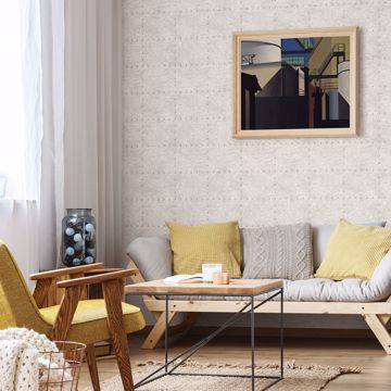 Picture of Goldberg Ivory Hammered Metal Wallpaper