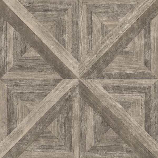 Picture of Carriage House Brown Geometric Wood Wallpaper