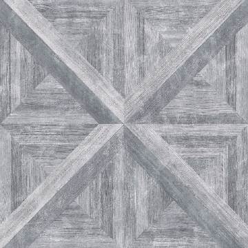 Picture of Carriage House Grey Geometric Wood Wallpaper