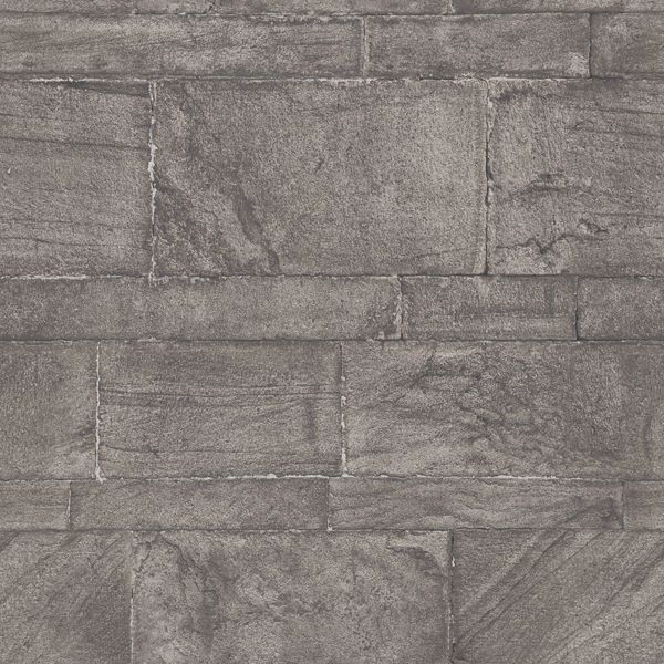 Picture of Murray Dark Grey Stone Wall Wallpaper