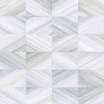 Picture of Stratum Light Blue Geometric Wood Wallpaper