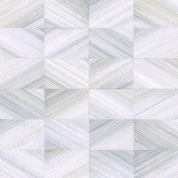 Picture of Stratum Light Blue Geometric Wood Wallpaper