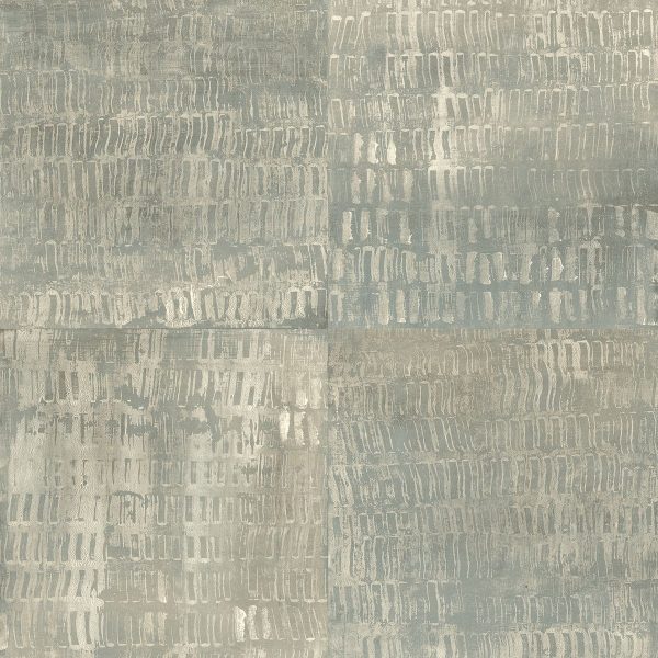 Picture of Conundrum Sage Faux Metal Wallpaper