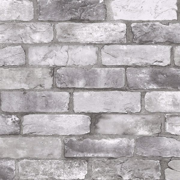 Picture of Rustin Grey Reclaimed Bricks Wallpaper
