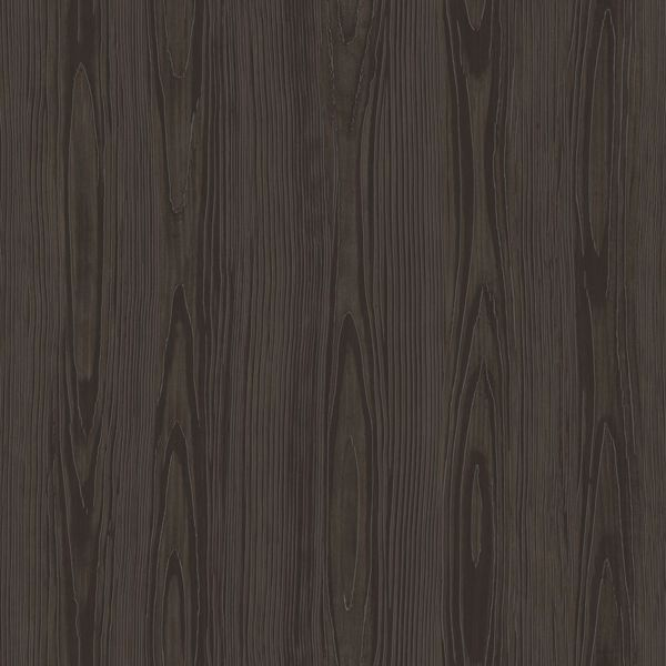 Picture of Tanice Dark Brown Faux Wood Texture Wallpaper