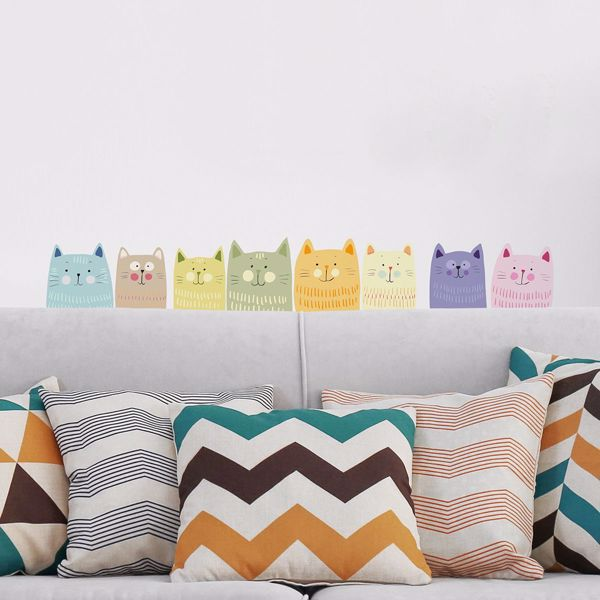 Picture of Multicolor Cats Wall Decals