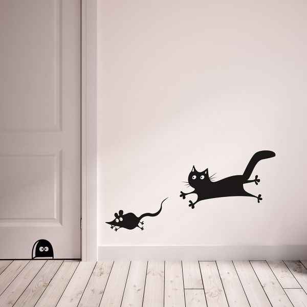 Picture of Mouse and Cat Wall Decals