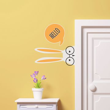 Picture of Hello Rabbit Wall Decals
