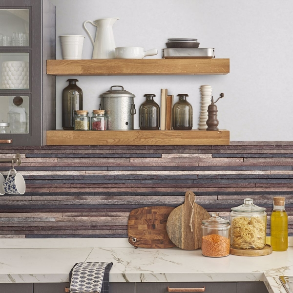 Picture of Wood Strips Peel and Stick Backsplash