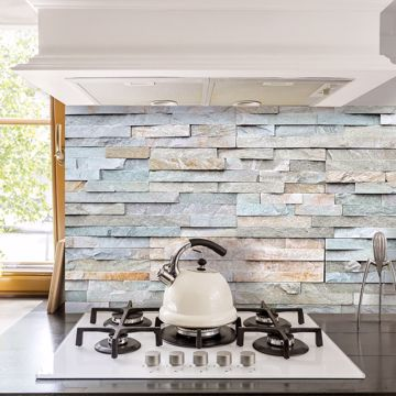 Picture of Grey Stones Peel and Stick Backsplash