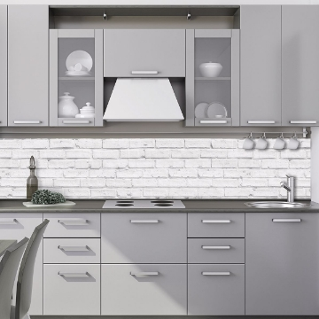 Picture of White Bricks Peel and Stick Backsplash