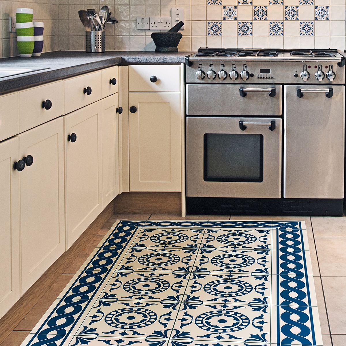 Home Decor Line 19.7-in By 47.2-in Tile Carpet Vinyl Floor