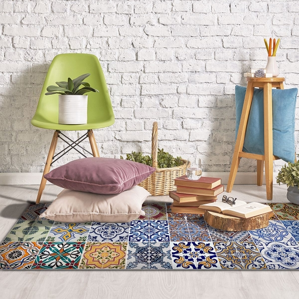 Picture of Spring Tile Carpet Vinyl Floor Runner