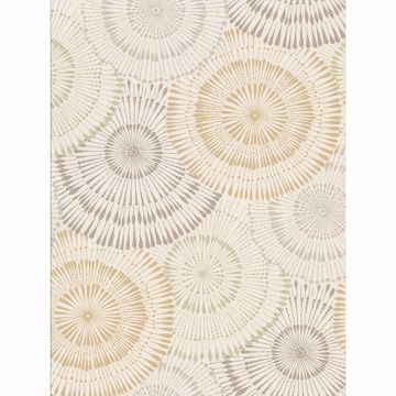 Picture of Howe Wheat Medallions Wallpaper