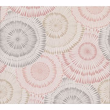 Picture of Howe Coral Medallions Wallpaper