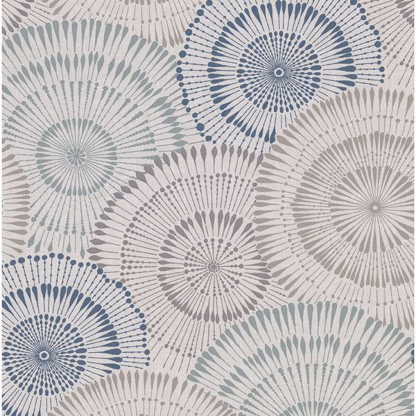Picture of Howe Blue Medallions Wallpaper