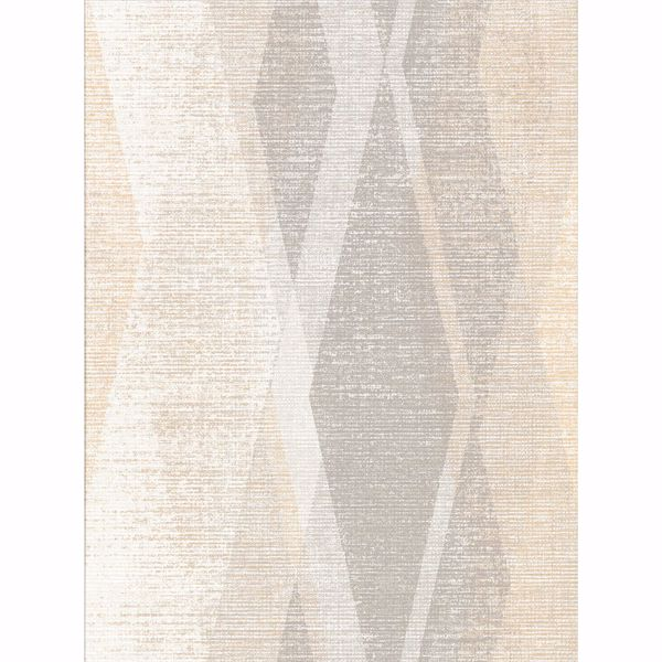 Picture of Torrance Neutral Distressed Geometric Wallpaper