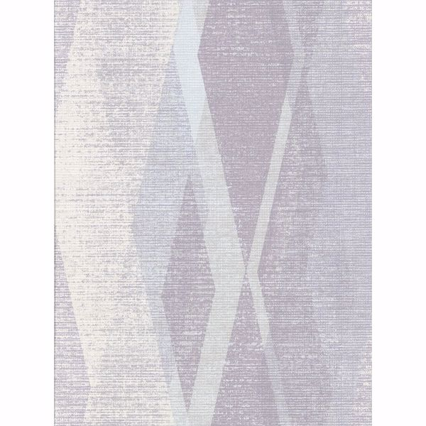 Picture of Torrance Lavender Distressed Geometric Wallpaper
