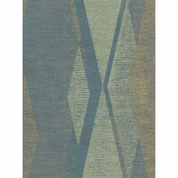 Picture of Torrance Green Distressed Geometric Wallpaper