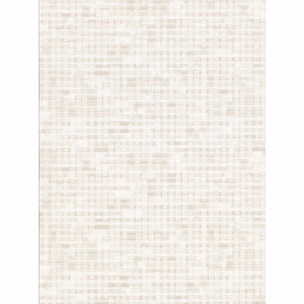 Picture of Clarice Cream Distressed Faux Linen Wallpaper