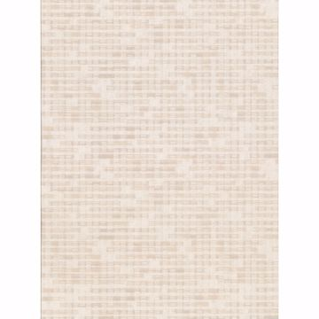 Picture of Clarice Beige Distressed Faux Linen Wallpaper