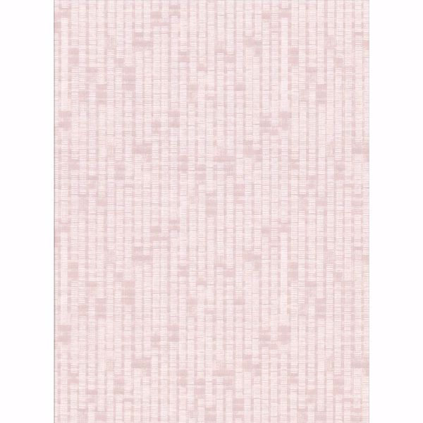 Picture of Clarice Pink Distressed Faux Linen Wallpaper