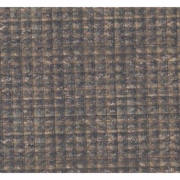 Picture of Nigel Multicolor Faux Tile Texture Wallpaper