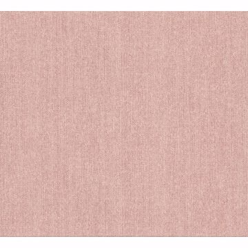 Picture of Holden Light Pink Chevron Faux Linen Wallpaper