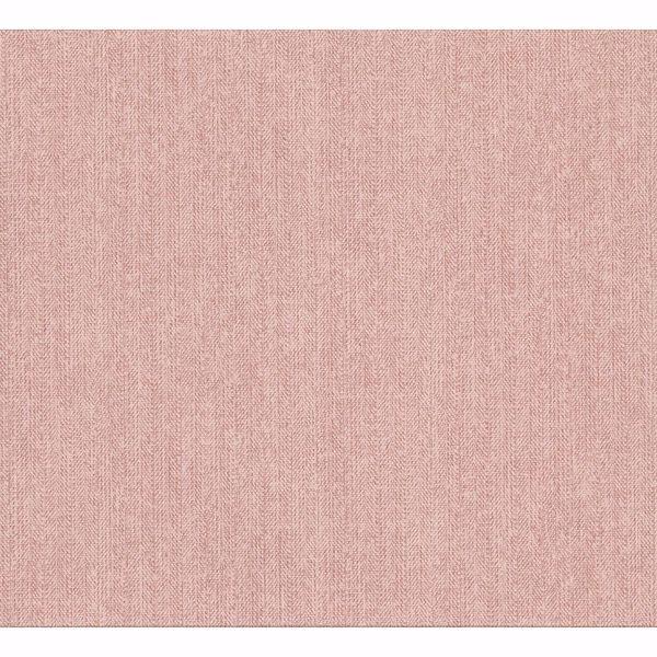 Picture of Holden Light Pink Chevron Faux Linen Wallpaper