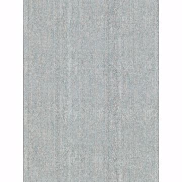 Picture of Holden Aqua Chevron Faux Linen Wallpaper