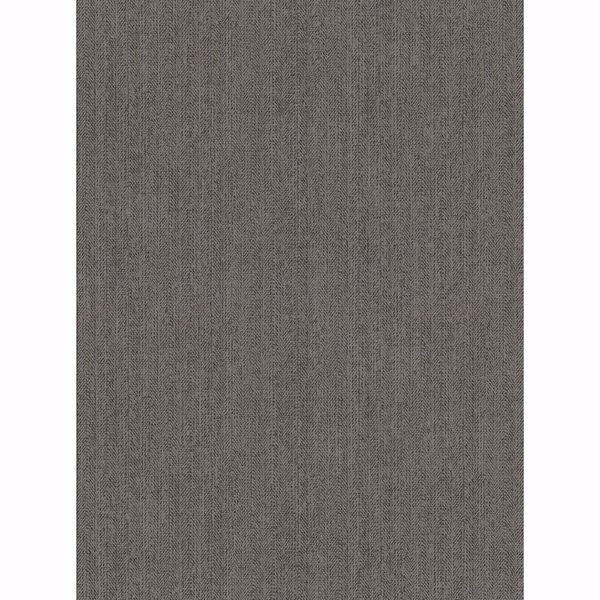 Picture of Holden Taupe Chevron Faux Linen Wallpaper