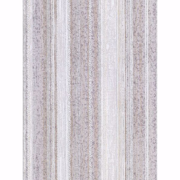 Picture of Lyra Lavender Distressed Stripe Wallpaper