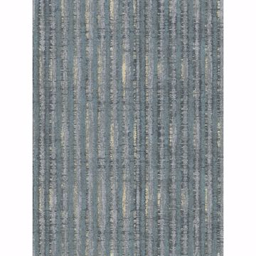 Picture of Annabeth Teal Distressed Stripe Wallpaper