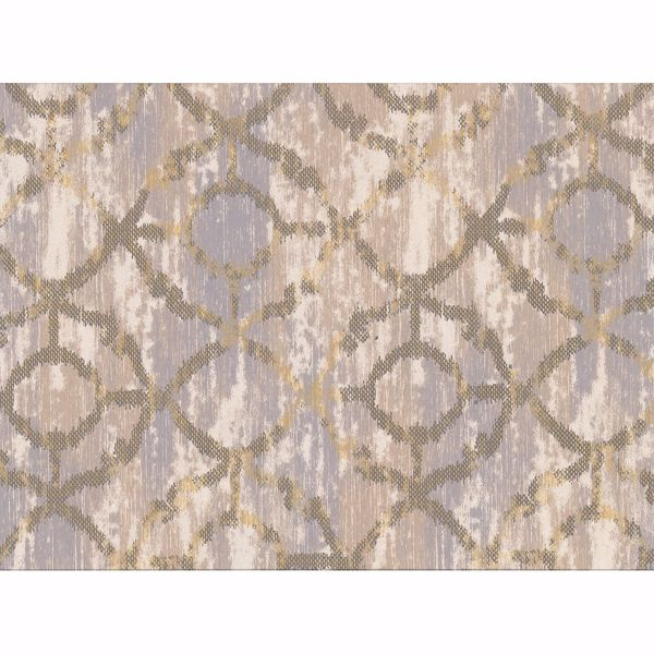 Picture of Dashwood Taupe Distressed Trellis Wallpaper