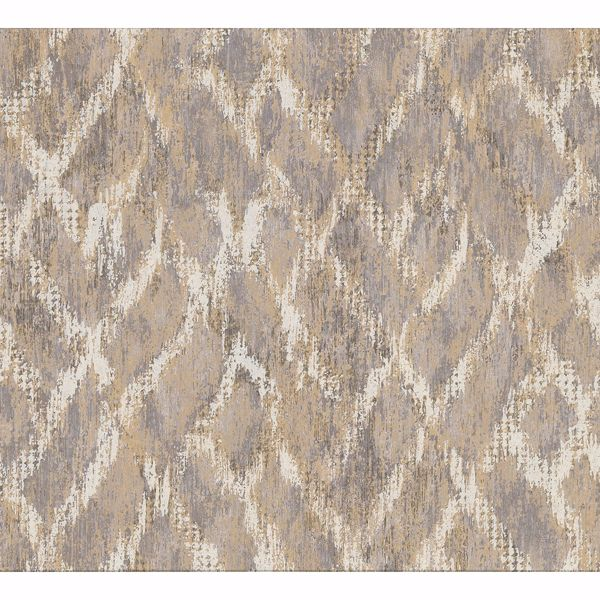 Picture of Bunter Taupe Distressed Geometric Wallpaper