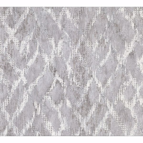 Picture of Bunter Grey Distressed Geometric Wallpaper