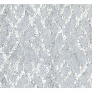 Picture of Bunter Silver Distressed Geometric Wallpaper