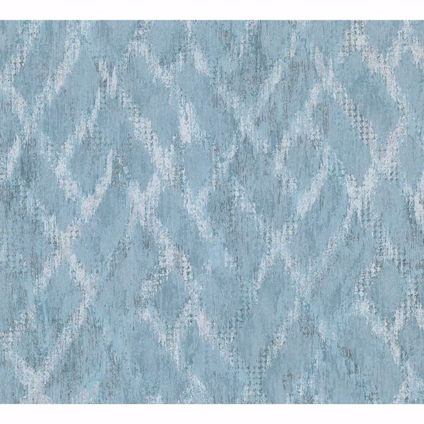 Picture of Bunter Turquoise Distressed Geometric Wallpaper