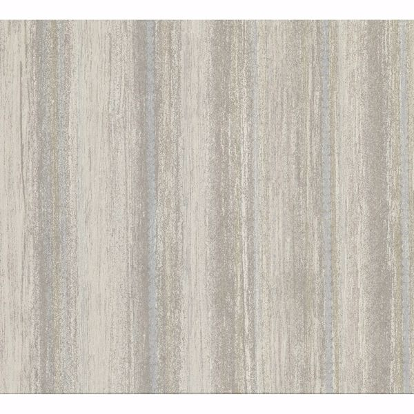 Picture of Zazie Neutral Stripe Texture Wallpaper