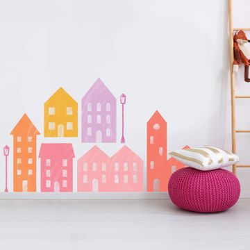 Picture of Little Pink Houses Wall Art Kit